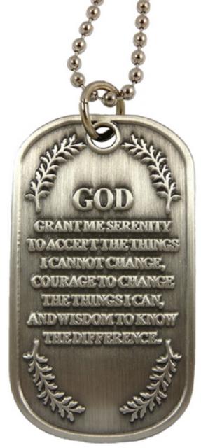 Dog Tag 4439 Spiritual Prayer Metal Key Chain