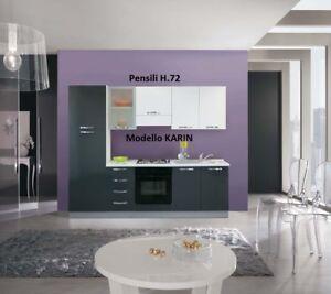 Dettagli su Cucina componibile moderna Karin pensili basi lucide moderne