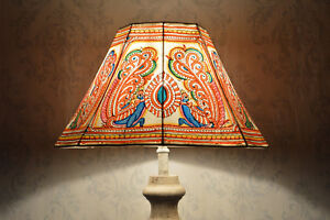 Peacock-Floor-Lamp-Shade-Large-Hand-Painted-Leather-Lampshade