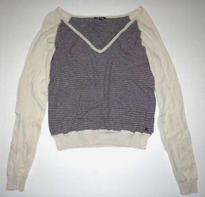 brand new 21309 c245c Details zu Hurley Damen Beige Strickpullover Pullover Top Shirt-Medium