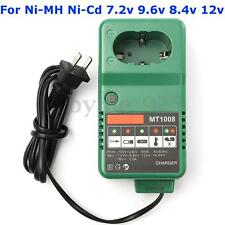 Universal Drill Battery Charger For MT1008 7.2V 9.6V 8.4V 12V Ni-MH Ni-Cd + Plug