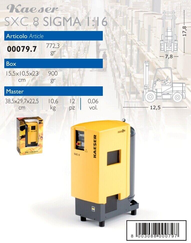 Kaeser SXC 8 SIGMA Compressor 1 16 MODEL ros00079 ROS