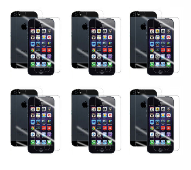 6x HD Clear LCD Screen Protector Cover Guard For Apple iPhone 5 5th 5 Gen 5S New