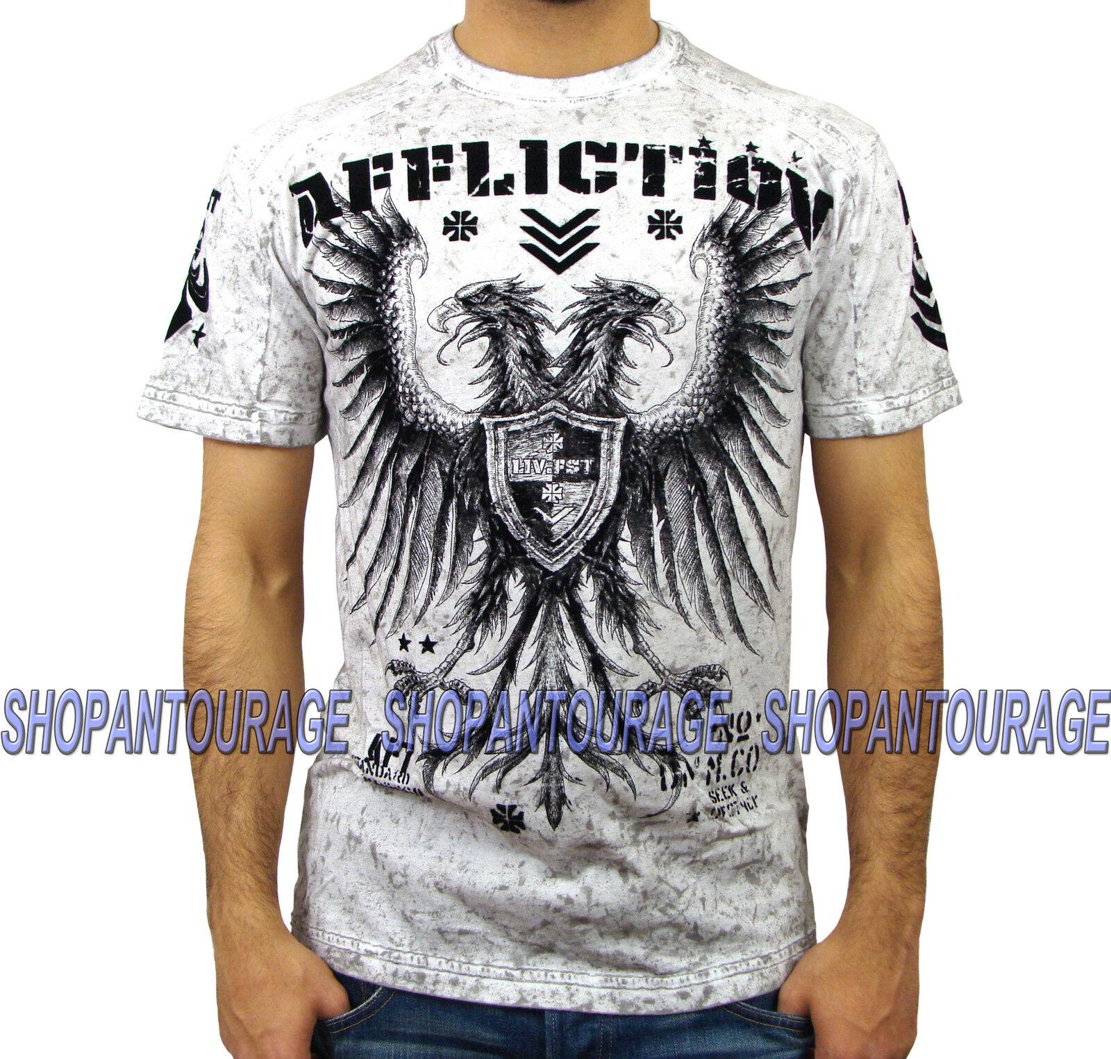 AFFLICTION Royal Striker A9130 Men`s New T-shirt White
