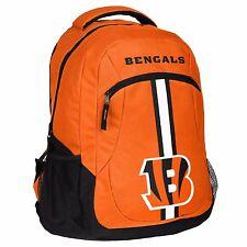 Cincinnati Bengals Logo Action BackPack School Bag New Back pack Gym Travel  Book d52ea294d383c