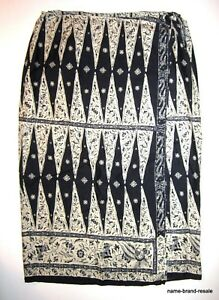 LAUREN-Ralph-Long-Print-SKIRT-Womens-PLUS-22W-22-Maxi-Wrap-Sarong-100-LINEN
