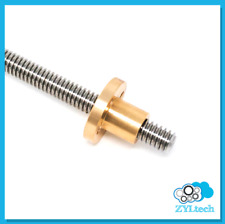 12 10 Stainless Steel Acme Threaded Rod Lead Screw With Brass Nut 12 24 36 48