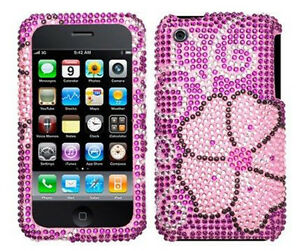 Pink-Blooming-Bling-Case-Cover-for-Apple-iPhone-3G-3GS