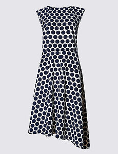 Hem Skater Asymmetric M Spotted Dress S Collection amp; SqwW4pTB