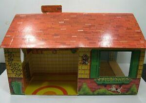 1970s-Milton-Bradley-Dollhouse-Doll-House-Folds-Flat-Cardboard-Very-Cool
