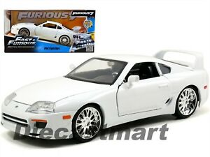 JADA-97375-THE-FAST-AND-FURIOUS-BRIAN-039-S-TOYOTA-SUPRA-1-24-DIECAST-CAR-WHITE