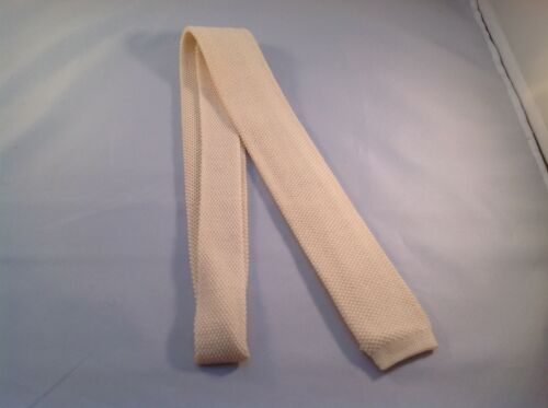 Sock Tie Ivory 100/% Wool Double Knit  Made in USA NEW