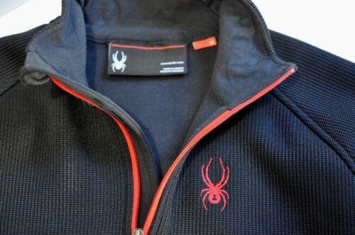 Spyder 1/4 Zip black Mens size M 1/4 zip pullover