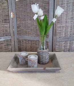 Fruhling Dekotablett Holz Tablett Untersetzer Tischdeko Schale Flach