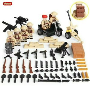 Lego-WW2-Bataille-de-Normandie-Soldats-Anglais-Militaire-Armee-Military-UK-toy