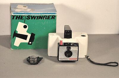 1 Original Polaroid Swinger Camera Type 20 Gebraucht, Gut Erhalten, Funktioniert SchüTtelfrost Und Schmerzen