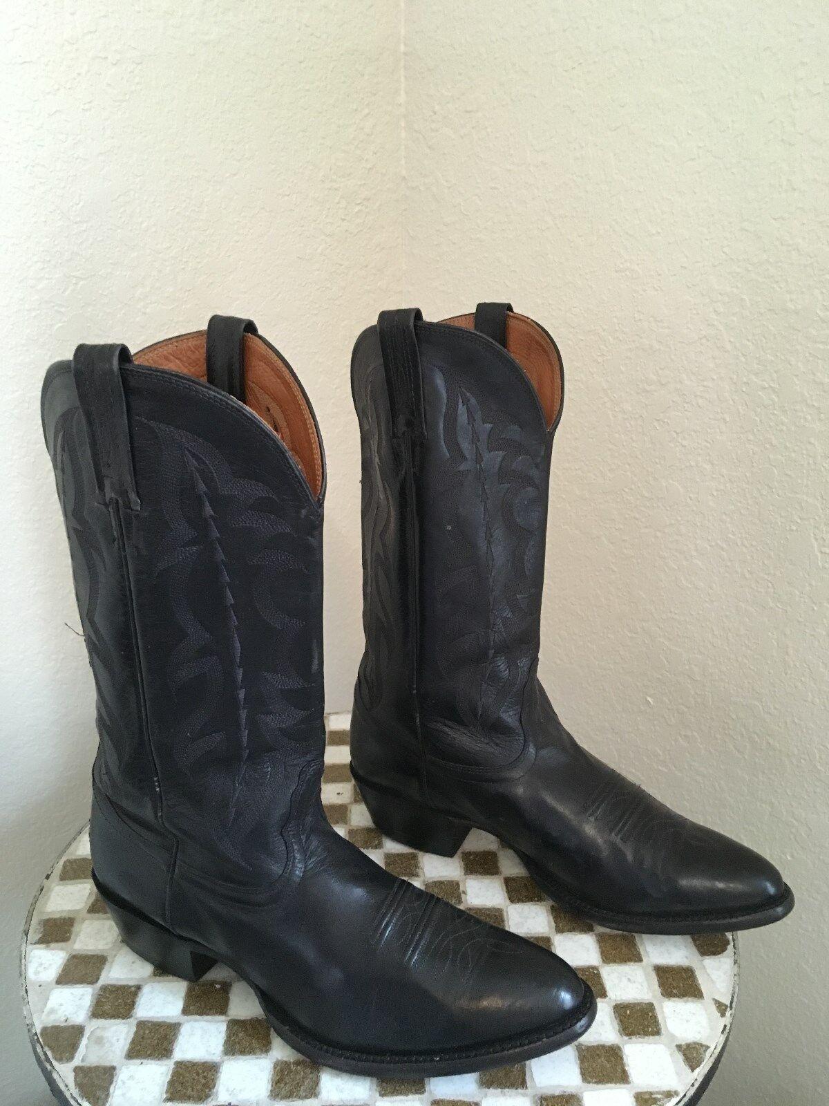ROCKABILLY BLACK NOCONA WESTERN COWBOY BOOTS 10 D