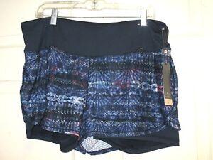 Calia-Carrie-Underwood-Womens-2-In-1-Mesh-Printed-Shorts-Boho-Batik-Sz-XL-NWT