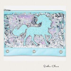 Cute Unicorn Initial Pencil Case