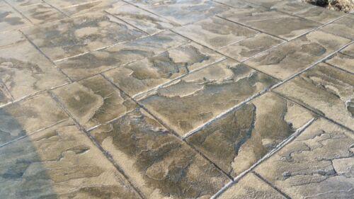 Ashler Notched SlateSingle Rigid Concrete Stamp by Walttools Yellow