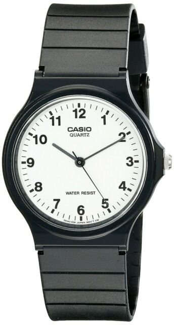 Orologio Originale Casio MQ-24-7B Resina Bianco Unisex Vintage MQ-24-7BLD