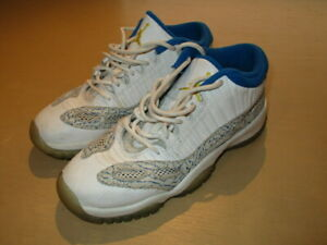 99b83aa8ae67 2007 Nike Air Jordan 11 XI Retro Low White Zest Argon Blue 306006 ...