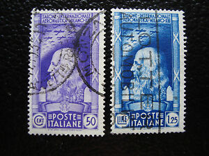 Italy-Stamp-Yvert-and-Tellier-N-366-367-Obl-A11-Stamp-Italy-A
