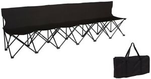 Peachy Details About 6 Seater Folding Black Sideline Chair Back Portable Team Sports Bench Seating Dailytribune Chair Design For Home Dailytribuneorg