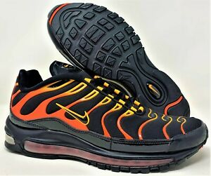 Nike Men S Air Max 97 Plus Shock Orange Ah8144 002 Black Orange