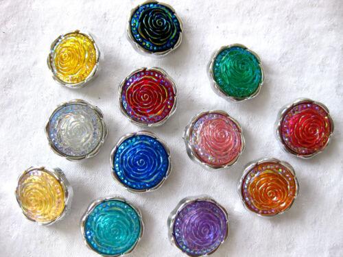 en différentes couleurs k94 couleur au choix environ 23mm 7 jolies boutons