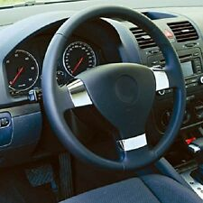 VW Golf 5 MK5 Passat B6 3C EOS Jetta MK3 3 Chrome Steering Wheel Inserts Covers-