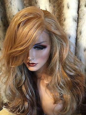 WOW! HH BLEND, Ombre Blonde, Red, Brown,Multipart, H.F. Lace Front Wig🌹