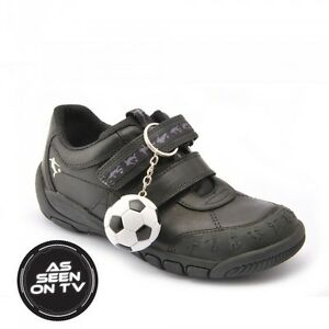 7e870e2d3b721 Start-rite HAT TRICK Boy's Black Leather School Shoe *FREE FOOTBALL ...