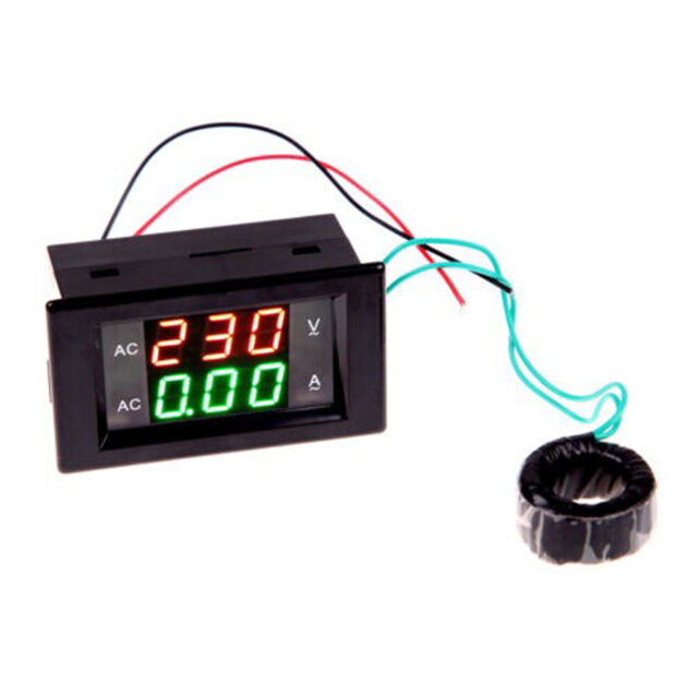 80-300V 100A CT LCD Digital Voltmeter Ammeter Volt Amp Power Kwh Panel Meter ASS
