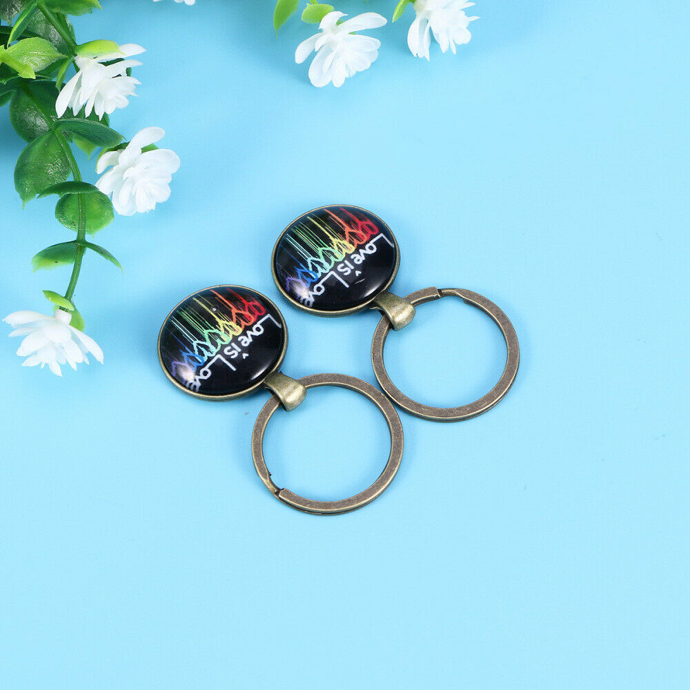 2 PCS Key Chain Alloy Key Chain Pendant for Decoration Holiday Gift