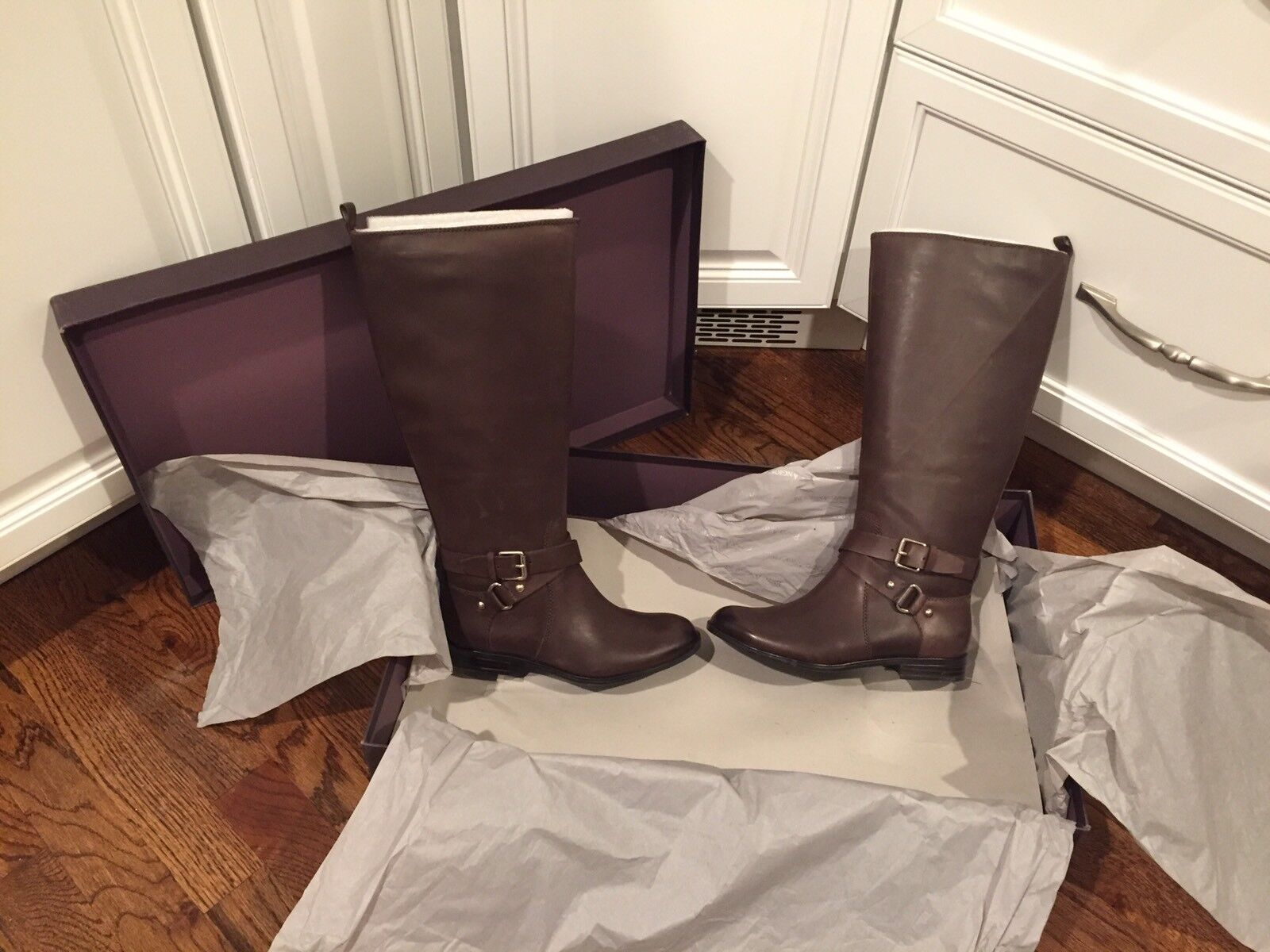 Enzo Angiolini Daniana Boots Size 5.5 NIB Brown Leather