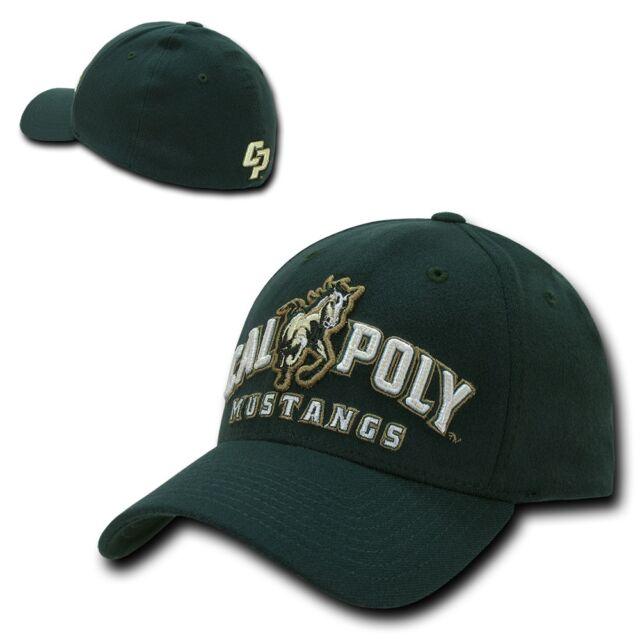 52bbda3ba4f3e NCAA Cal Poly Mustangs University Low Constructed Flex Acrylic Caps Hats
