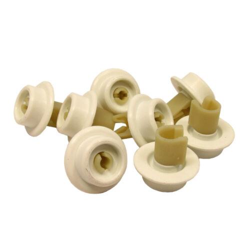 ZANUSSI Dishwasher Wheel Loading Rack Lower Basket Wheels Rollers 8 Pieces