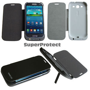 Power-Bank-Tragbare-Batterie-Flip-Ladegeraet-Huelle-Backup-Packung-Cover-Galaxy-S3