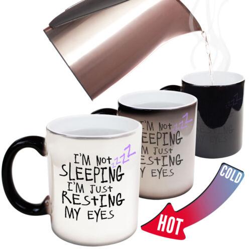 Funny Mugs Im Not Sleeping Im Just Resting My Eyes Gift Christmas MAGIC MUG
