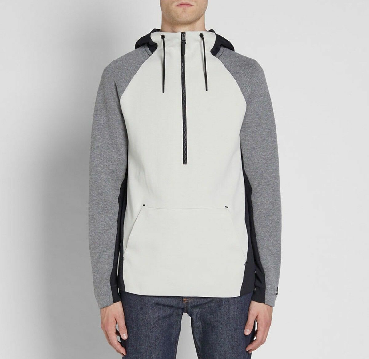 6c3bebf9cbab Mens Nike Tech Fleece 1 2 Zip Hoody 884892 3xl Light Bone Carbon ...