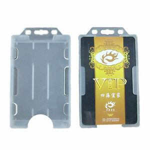 Image Is Loading Heavy Duty Vertical Hard Plastic Id Badge Holder