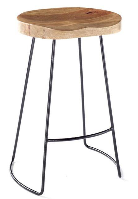 Stupendous Vintage Rustic Designer Kitchen Pub Bar Designer Wooden Stool Industrial Shabby Machost Co Dining Chair Design Ideas Machostcouk