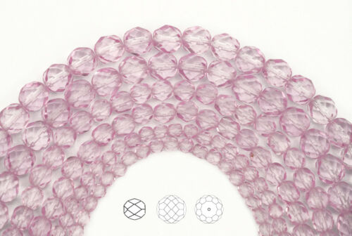 600 Preciosa Czech Glass Fire Polished Round Beads 4mm Crystal Pink Shimmer ctd
