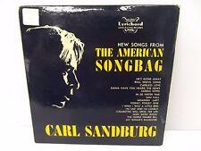 "1950's Carl Sandburg New Songs from the American Songbag Lyrichord 10"" Vinyl LP"