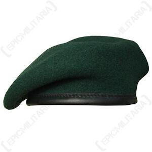 All Sizes DARK GREEN Royal Marines Army Cap Uniform New 100/% Wool BRITISH BERET