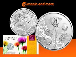 10 Euro Österreich 2021 - Mit der Sprache der Blume - Rose in Blister HGH