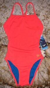 38210e5110 SPEEDO The One Solid Flame Orange1 Pc Endurance Lite Swim Suit Women ...
