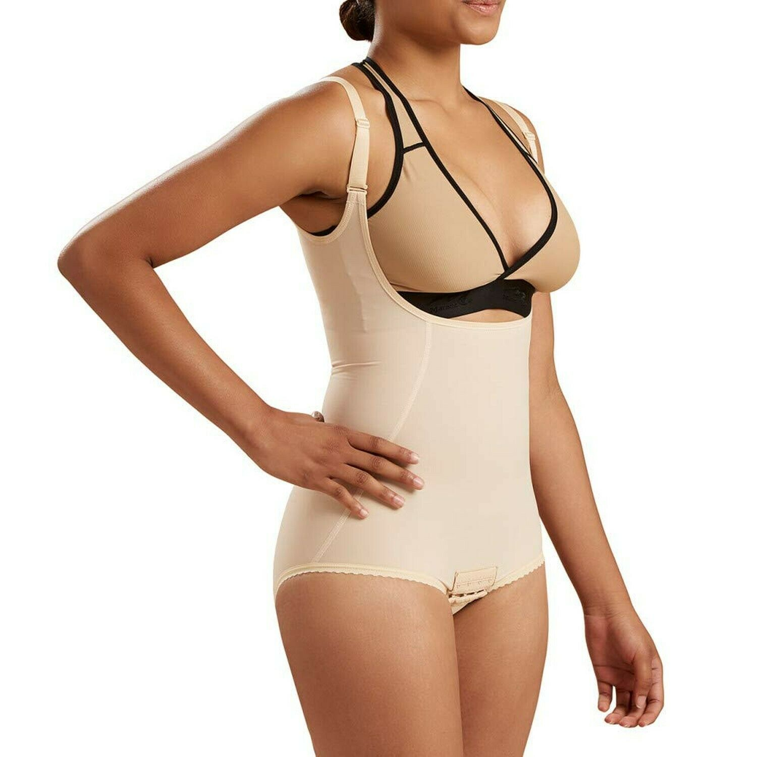 Marena Second Stage Suit with Suspenders and No Leg by Comfortwear FBA2 Beige