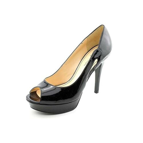 Marc Fisher Black Patent Platform Peep Toe Heels
